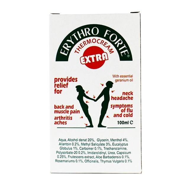 Erythro Forte Extra Cream Παρέχει Ανακούφιση Στους Πόνους 100ml