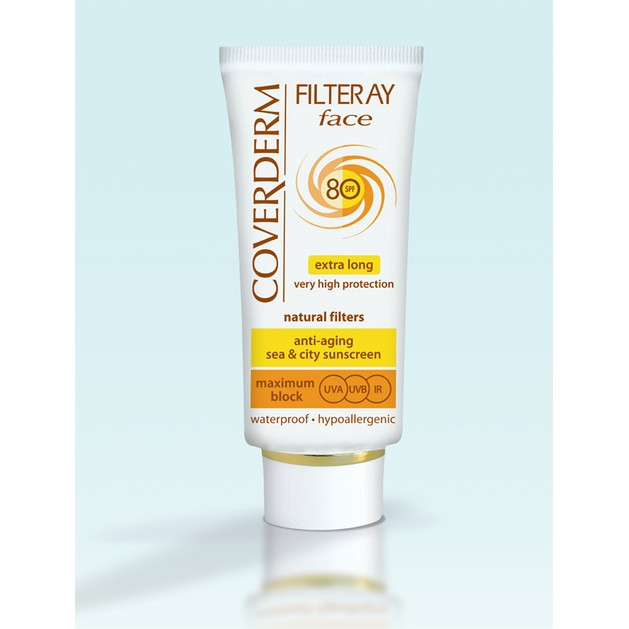 Coverderm Filteray Face Spf80 Αντηλιακή Αντιγηραντική Κρέμα Μακράς Προστασίας 50ml
