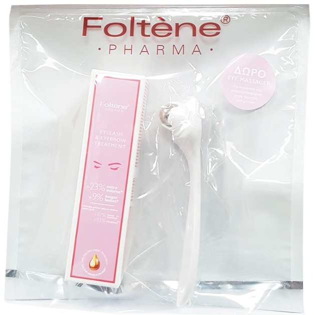 Foltène Pharma Eyelash & Eyebrow Treatment Αγωγή για Βλεφαρίδες Και Φρύδια 6.5ml & Δώρο Eye Massager