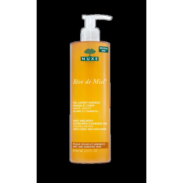 Nuxe Reve de Miel Gel Lavant Visage et Corps - Απαλό Αφρόλουτρο και Shower Gel για το Σώμα 400ml