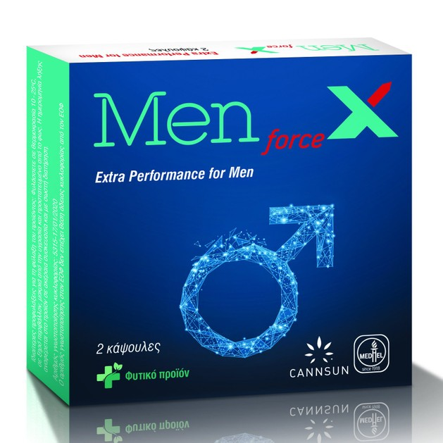 Cannsun Medhel MenForceX Συμπλήρωμα Διατροφής που Βελτιώνει τη Λίμπιντο & Προσδίδει Ενέργεια για Μέγιστη Απόδοση 2Caps