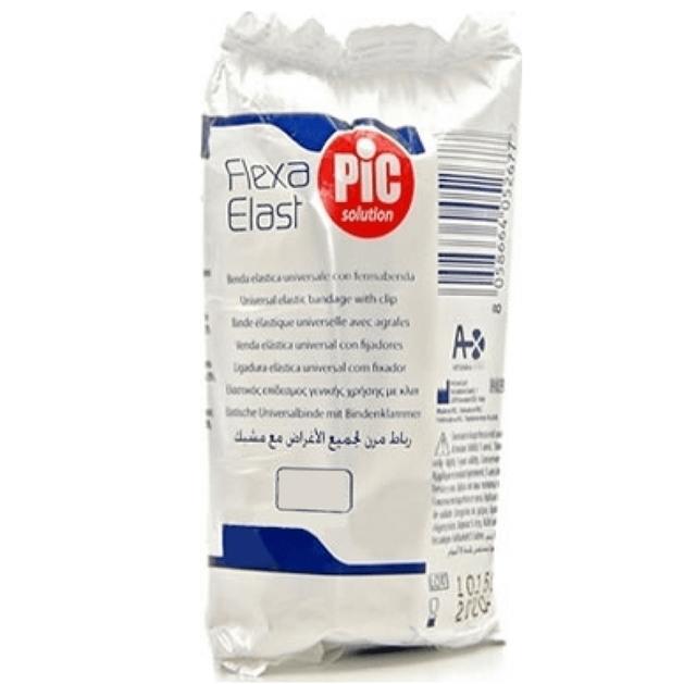 Pic Flexa Elast Ελαστικός Επίδεσμος Γενικής Χρήσης με Κλιπ σε Λευκό Χρώμα 1 Τεμάχιο