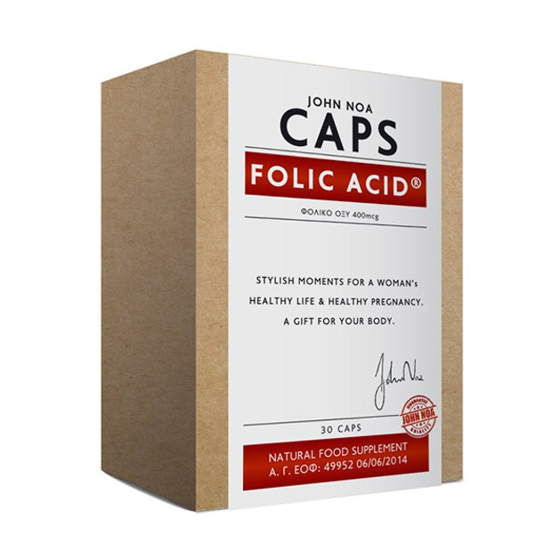 John Noa Folic Acid Απαραίτητο Για Την Ανάπτυξη 30 κάψουλες