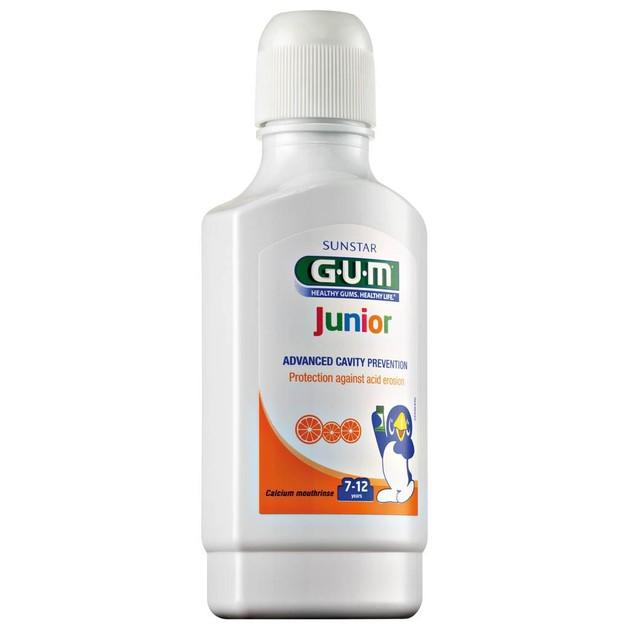 Gum Junior Calcium Mouthrinse Παιδικό Στοματικό Διάλυμα 7-12 ετών με Γεύση Πορτοκάλι 300ml
