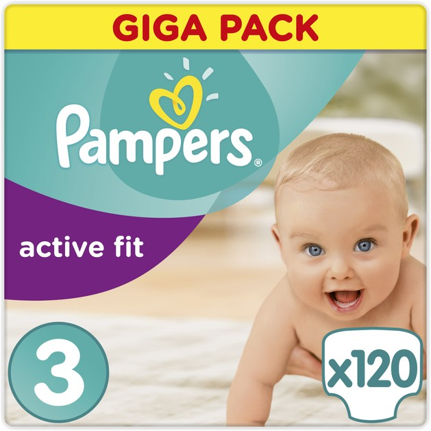 Pampers Active Fit Giga Pack No3 Midi (5-9kg), 120 πάνες