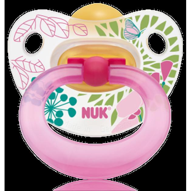 NUK Classic Happy Kids Πιπίλα Καουτσούκ Με Κρίκο Μεγέθη 1-3