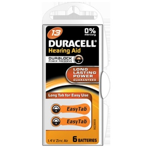 Duracell HEARING AID BATTERY WITH EASYTAB 13