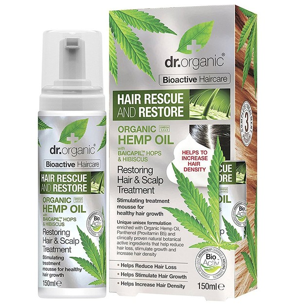Dr.Organic Hemp Oil Restoring Hair & Scalp Treatment 150ml