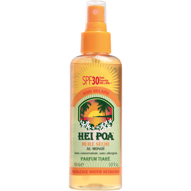 Hei Poa Monoi Dry Oil Spf30 Tiare Spray 150ml