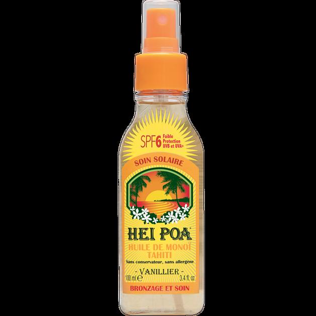Hei Poa Tahiti Monoi Oil Spf6 Vanilla Spray 100ml