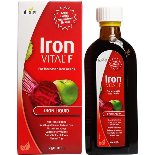 Hubner Iron Vital F For Increased Iron Needs Συμπλήρωμα Διατροφής με Σίδηρο & Βιταμίνη C 250ml