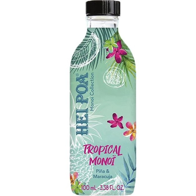 Hei Poa Pure Tahiti Monoi Oil Tropical, Τροπική Monoi, Ανανάς & Μαρακούγια 100ml