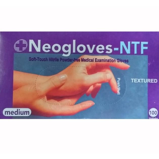 Neogloves Εξεταστικά Γάντια Νιτριλίου - Χωρίς Σκόνη Medium 100τμχ