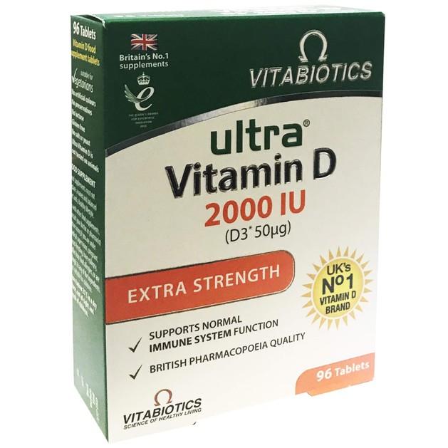 Vitabiotics Ultra Vitamin D 2000IU 96tabs