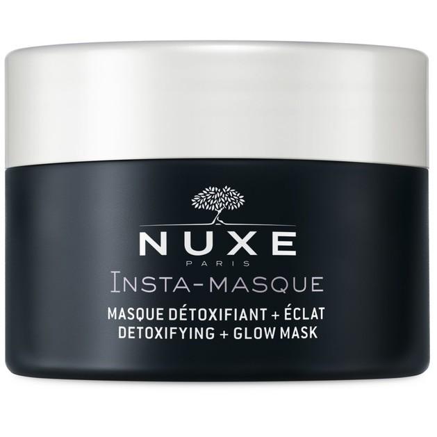 Nuxe Insta-Masque Detoxifying + Glow Mask Μάσκα για Αποτοξίνωση & Λάμψη με Τριαντάφυλλο & Ενεργό Άνθρακα 50ml