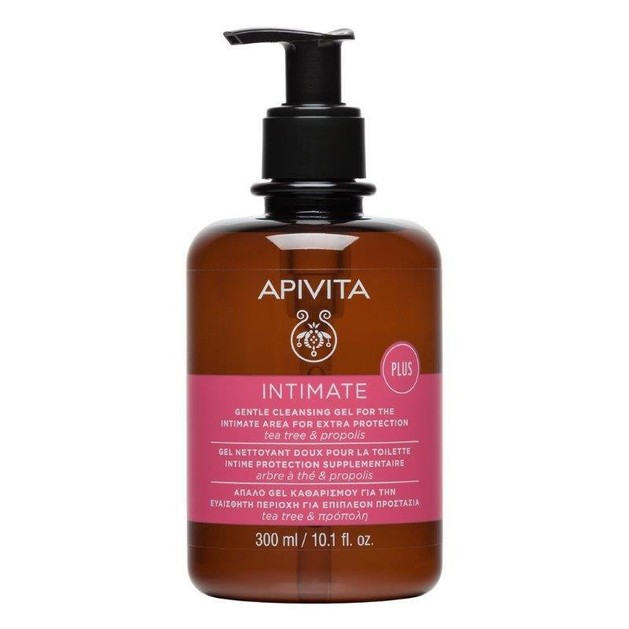 Apivita Intimate Care Plus Cleansing Gel For Extra Protection 300ml