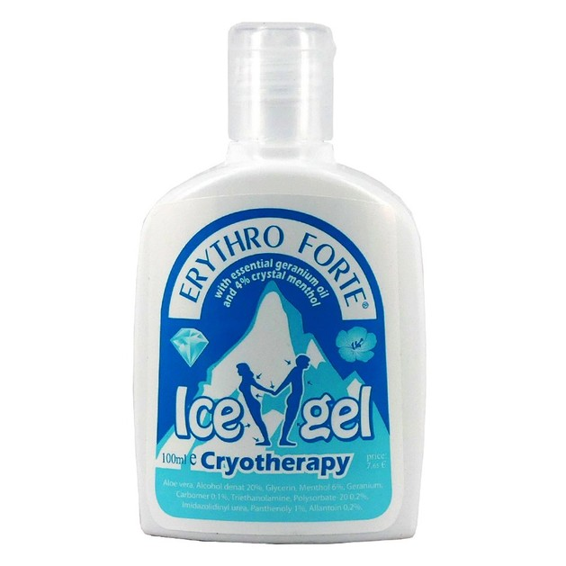 Erythro Forte Ice Gel Cryotherapy Προσφέρει Αμεσα Ανακούφιση Από Τον Πόνο 100ml