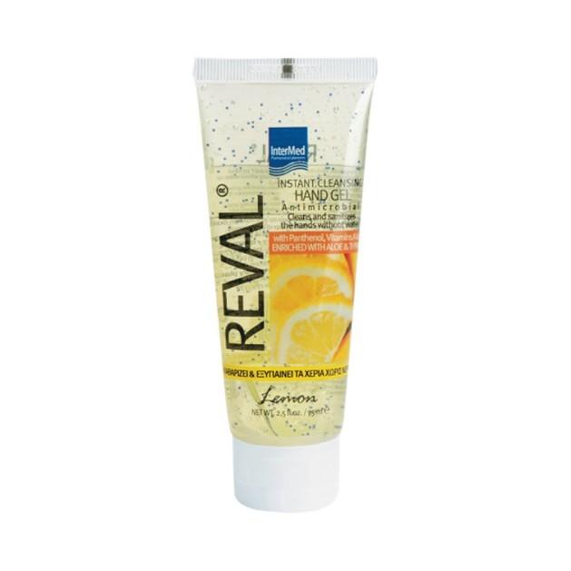 Intermed Reval Plus Lemon Antiseptic Hand Gel Αντιβακτηριδιακό Αντισηπτικό Χεριών 30ml