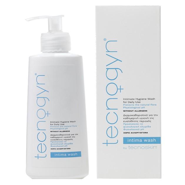Tecnoskin Tecnogyn Intima Wash Καθαριστικό για τη Καθημερινή Υγιεινή της Ευαίσθητης Περιοχής & Προστασίας της Χλωρίδας 200ml