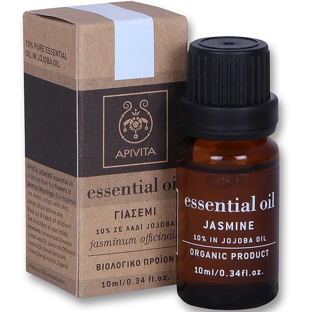 Apivita Essential Oil Jasmine Γιασεμί 10% Διάλυμα σε Λάδι Jojoba 10ml