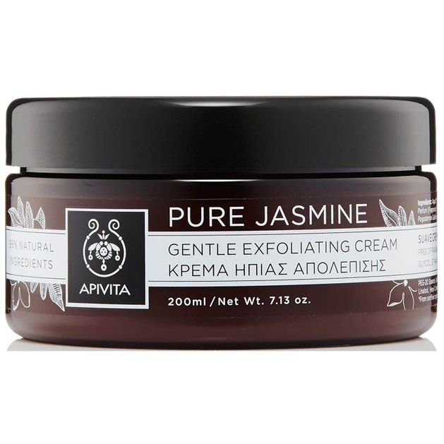 Pure Jasmine Gentle Exfoliating Cream 200ml - Apivita