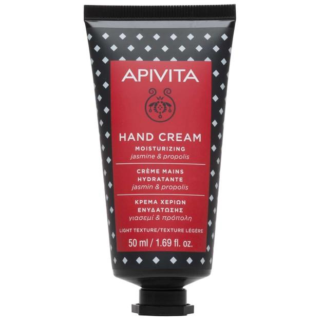 Apivita Hand Cream Moisturizing With Jasmine & Propolis Ενυδατική Κρέμα Χεριών Ελαφριάς Υφής 50ml