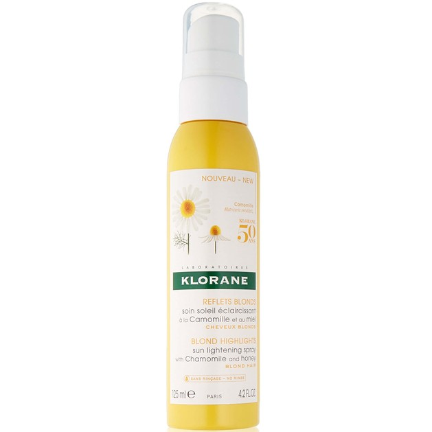 Klorane Reflet Blonds Soin Soleil Eclaircissant a la Chamomile et au Miel Spray για Λάμψη στα Ξανθά Μαλλιά 125ml Promo -25%