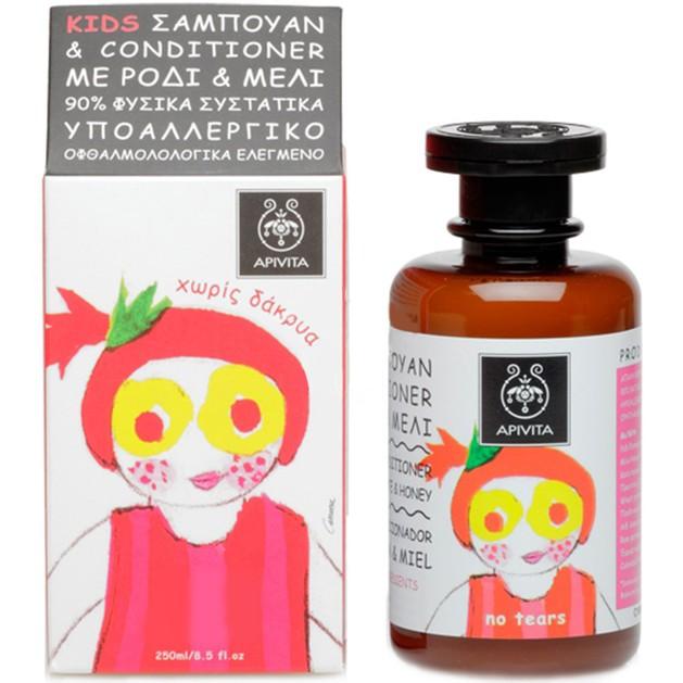 Kids Shampoo & Conditioner With Honey & Pomegranate 250ml - Apivita