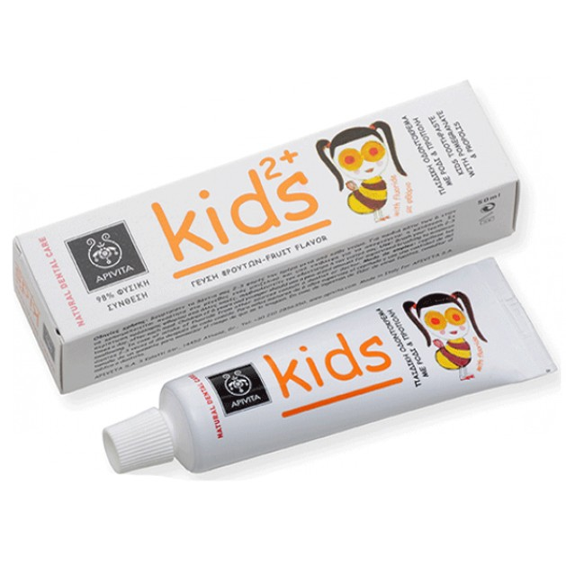 Apivita Natural Dental Care Kids Toothpaste 2+ With Pomegranate & Propolis 50ml