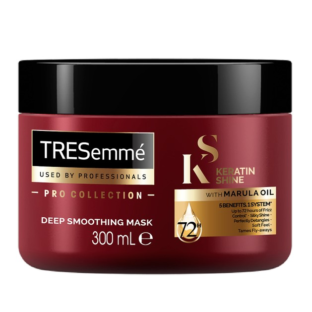 TRESemme Keratin Shine Mask With Marula Oil Μάσκα Μαλλιών με Έλαιο Κερατίνης για Απαλά & Λεία Μαλλιά που δεν Φριζάρουν 300ml