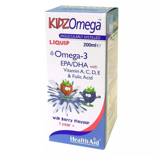 Health Aid KIDZ Omega Liquid Wild Berry Flavour 200ml