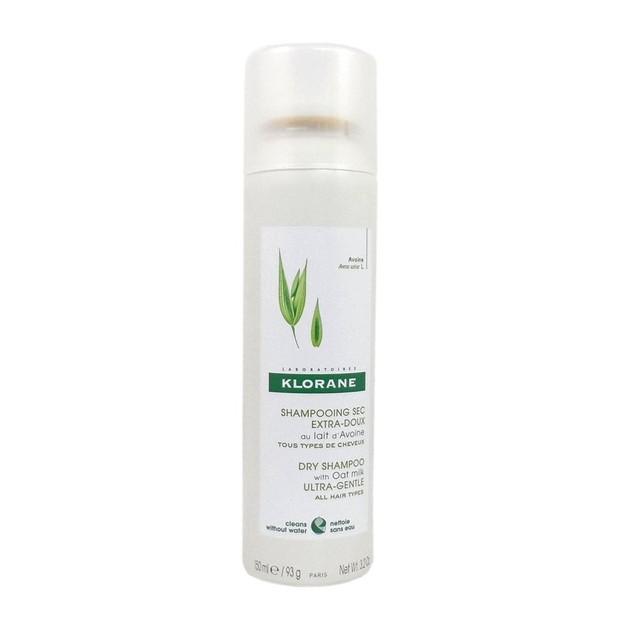 Klorane Dry Shampoo with Oat Milk Ultra-Gentle Ξηρό Σαμπουάν με Γαλάκτωμα Βρώμης για Κάθε Τύπο Μαλλιών 150ml