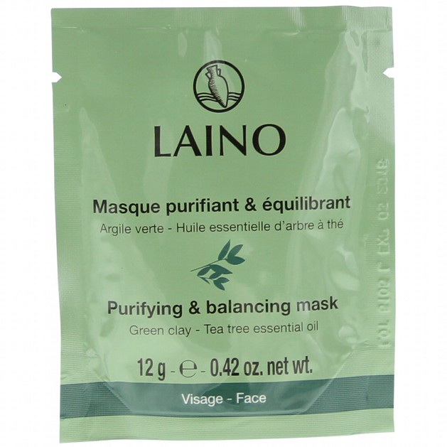 Laino Purifying & Balancing Mask Μάσκα με Πράσινη Αργίλο & Αιθέριο Έλαιο Τεϊόδεντρο, Καθαριστική & Εξισορροποιητική Δράση 12gr