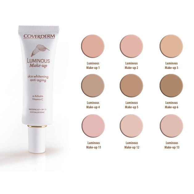 Coverderm Luminous Make-up Αδιάβροχο Μακράς Διάρκειας make-up 30ml