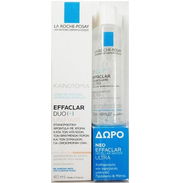 La Roche-Posay Effaclar Duo [+] Unifiant Medium Απόχρωση 40ml & Δώρο Eau Micellaire Purifiante 50ml