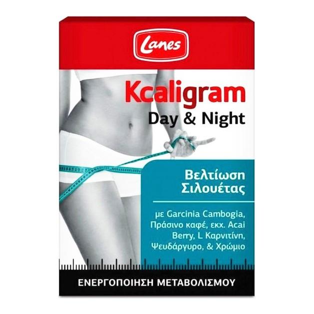 Lanes Kcaligram Day & Night Ενισχυμένο Σύστημα Ημέρας & Νύχτας με Ολοκληρωμένη Δράση για Έλεγχο Βάρους 60tabs