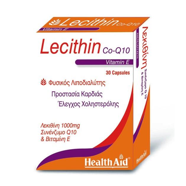 Health Aid Lecithin with Co-Q10 & Vitamin E 30caps