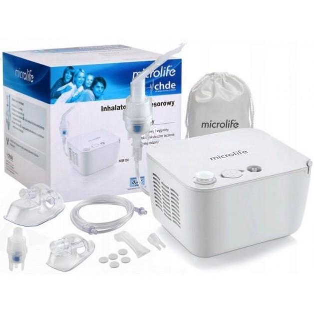 Microlife ΝΕΒ 200 Νεφελοποιητής για Θεραπεία με Εισπνοές για Άσθμα Χρόνια Βρογχίτιδα και Άλλες Ασθένειες του Αναπνευστικού