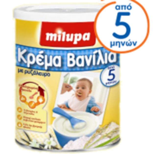 Milupa Κρέμα Βανίλια 300gr