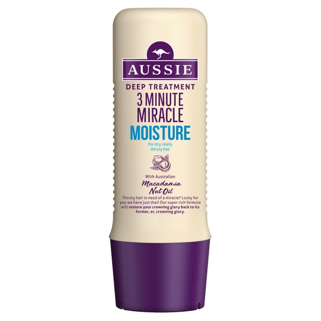 Aussie 3 Minute Miracle Moisture Deep Treatment Εντατική Μάσκα 3 Λεπτών Για Ξηρά ή Ταλαιπωρημένα Μαλλιά 250ml