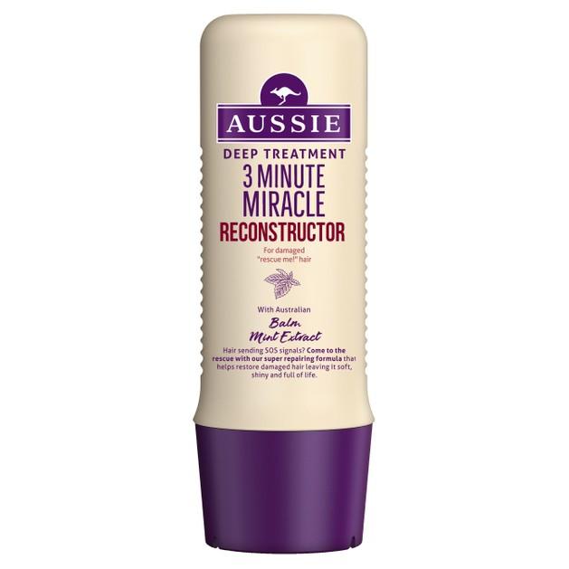 Aussie 3 Minute Miracle Reconstructor Deep Treatment Θεραπεία 3\' για Ισχυρή Φροντίδα Επανόρθωσης για Κατεστραμμένα Μαλλιά 250ml
