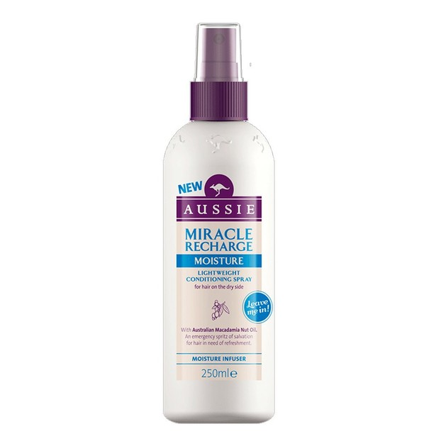 Aussie Miracle Recharge Moisture Conditioning Spray Σπρέι για τα Ξηρά Ταλαπωρημένα & Διψασμένα Μαλλιά 250ml