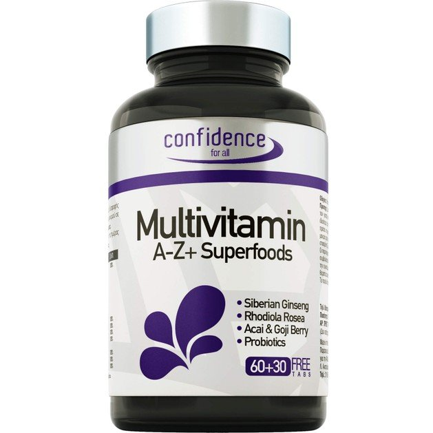 Confidence Multivitamin A-Z + Superfoods 90tabs (60+30 Δώρο)