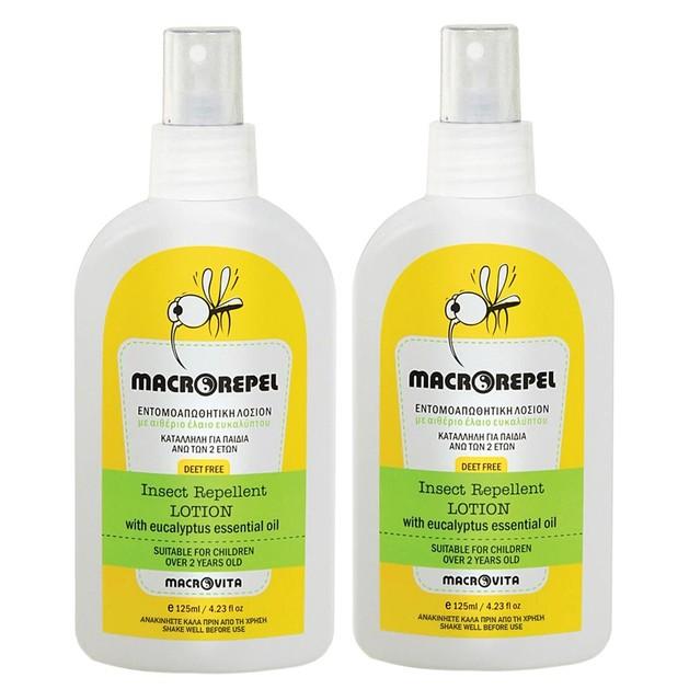 Macrovita Macrorepel Insect Repellent Lotion 1+1 Δώρο 2χ125ml