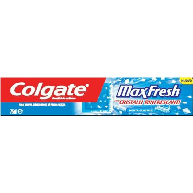 Colgate Max Fresh Cool Mint Οδοντόκρεμα Με Κρυστάλλους Δροσιάς Για Αίσθηση Φρεσκάδας  75ml