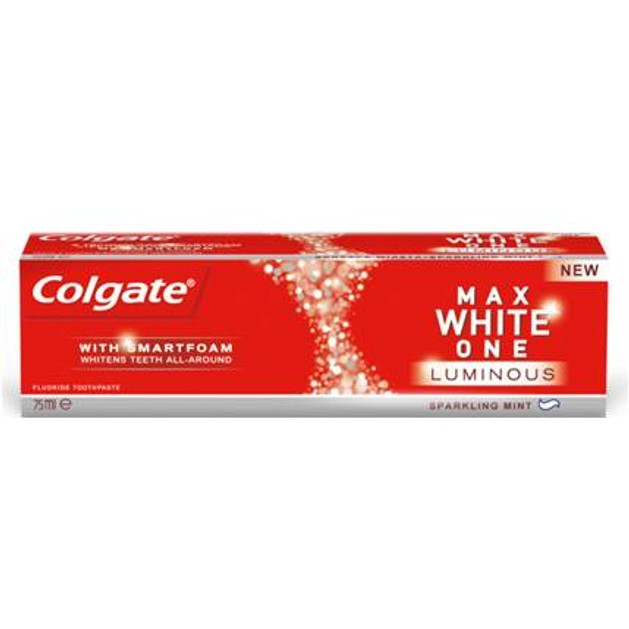 Colgate Max White One Luminus Για Κορυφαίο Καθαρισμό Παντού Ακόμα Και Ανάμεσα Στα Δόντια 75ml
