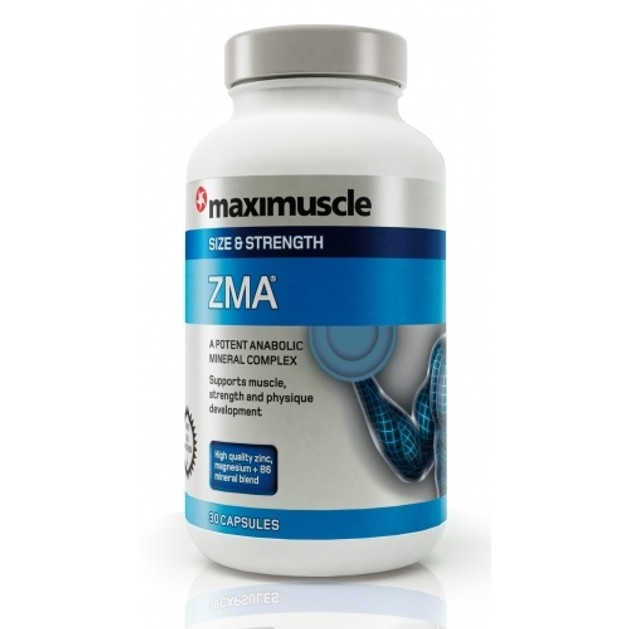 Maximuscle ZMA φόρμουλα Ψευδάργυρου, Μαγνησίου και Βιταμίνης Β6 για άνδρες 30caps