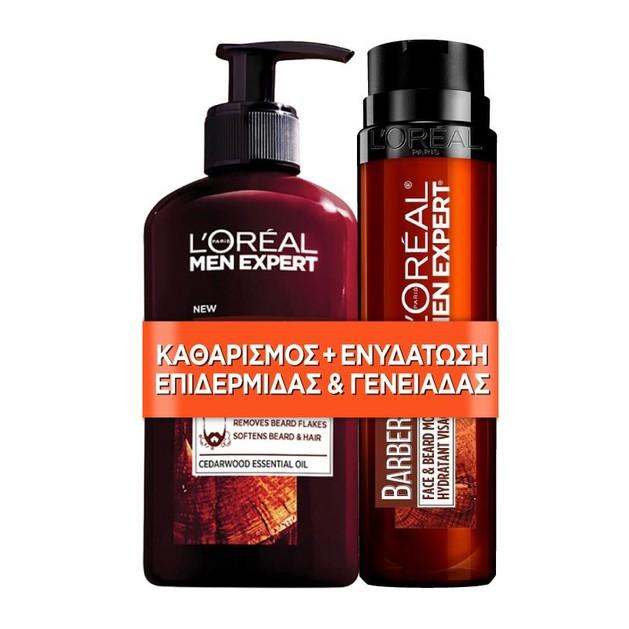 L\'oreal Paris Men Expert Promo BarberClub Beard, Face & Hair Wash 200ml & Hydra Energetic Ενυδατικό Turbo Booster 50ml