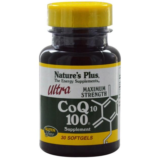 Nature\'s Plus Ultra Co-Q10 100mg Συμπλήρωμα Διατροφής με Αντιοξειδωτικές Ιδιότητες 30 Softgels