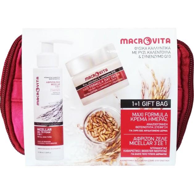 Macrovita Πακέτο Προσφοράς Micellar Gel to Foam 3 in 1, 100ml & Maxi Formula Day Cream Dry/Dehydrated Skin 40ml 1+1 Δώρο